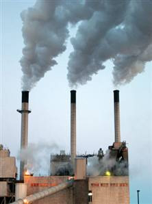Emissions from coal-fired power plants include sulfur dioxide, mercury, nitrogen oxides and carbon dioxide.