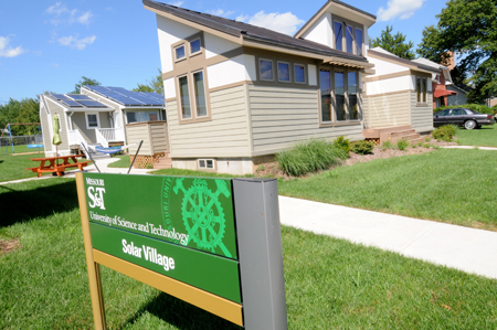 Microgrid unveiling at Missouri S&T's Solar Village