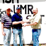 (From the left) Jimmie Taylor, David Stine, and Steve Brill, MSHA Mine Safety and Health Specialist.