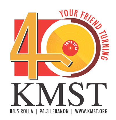The winning logo for KMST's 40th anniversary was designed by Trisha Mistler of Jefferson City, Mo.