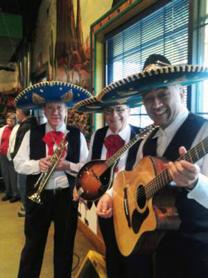 Kansas City's mariachi band The 3 Amigos.