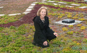 Helene Hardy-Pierce pictured on S&T's green roof.