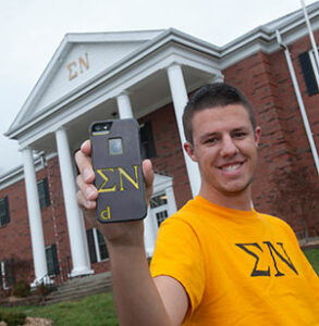 Connor Wolk hopes to build fraternity and sorority pride with his new company, Dual Cases.
