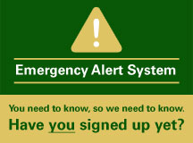 Update your information for Missouri S&T's mass notification system.