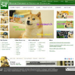 Doge took over the campus website on Tuesday, April 1.