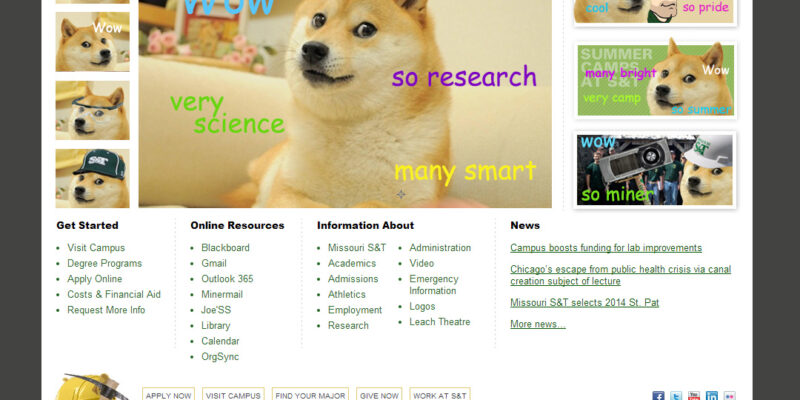 Wow. Doge takes over S&T website