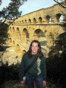 Senior Julie Langenfeld visited the Roman aqueducts while studying in France in 2012.