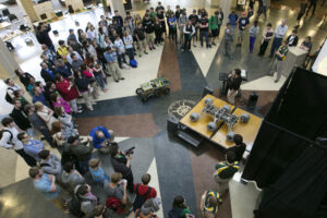 The Mars Rover unveiling. Photo by Sam O'Keefe, Missouri S&T.