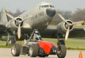 The team practicing at the Rolla National Airport. Photo by Bob Phelan.