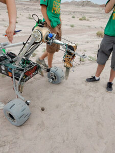 """Phoenix,"" Missouri S&T's  Mars rover, took second place at the 2014 University Rover Challenge in Hanksville, Utah."