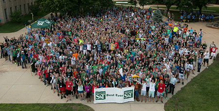 Missouri S&T freshmen during Opening Week 2014.
