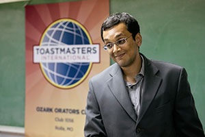 Ph.D. student from India headed to international Toastmasters speech contest