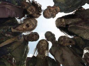 "Dr. Ivan G. Guardiola's 2012 course dealt with surviving an attack from creatures like these from the TV series ""The Walking Dead."" (Photo via AMC.)"