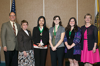 2014 Woman Student of the Year Award winners
