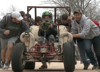 Missouri S&T final features couch racing