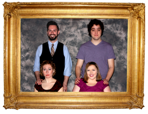 Next to Normal actors. From the left: Top row:  Blane Pressler, Member of Actor's Equity, and Ian Ramsey. Bottom row: Lauren Werkmeister and Rebecca Hanauer.