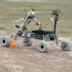 Missouri S&T's Mars Rover in action. Photo by Bob Phelan.