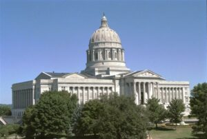 The Missouri State Capitol. Photo from the Missouri House of Representatives image gallery.