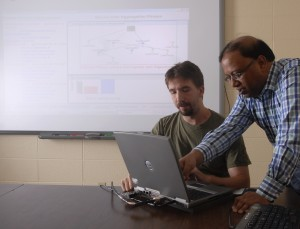 Dr. Sanjay Madria, right, professor  and associate chair for research in computer science at Missouri S&T, has received a grant to work on big data management in disaster situations.