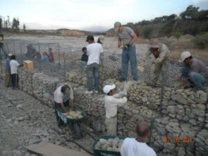 Students working in Los Eucaliptos during a prior trip. Photo submitted.