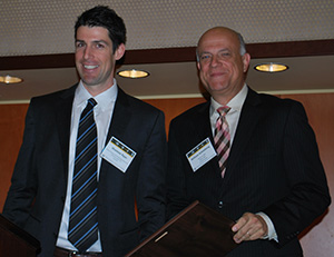 Dr. William Schonberg (right) with Dr. Shannon Ryan, Chair of the Hypervelocity Impact Society's Awards Committee