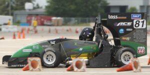 The Formula SAE car in action. Photo by Bob Phelan.