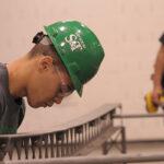 2014 graduate Jermy Jamison was team leader for the Missouri S&T Steel Bridge Design Team. Photo by Bob Phelan.