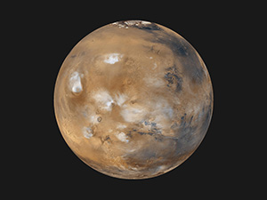 Mars. Photo courtesy of NASA.