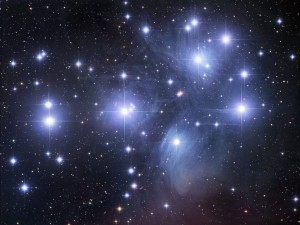 Photo of the Pleiades courtesy of NASA