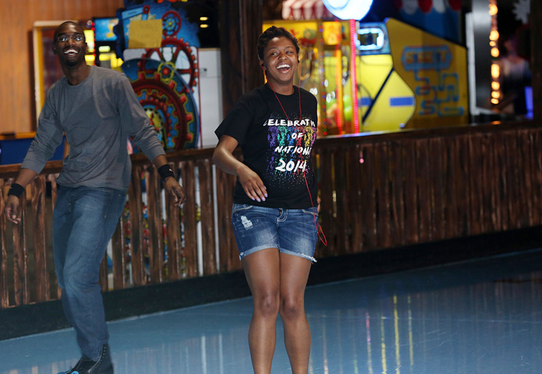 Armaja LaRue-Hill likes to roller skate in her free time at The Zone in Rolla. Sam O'Keefe/Missouri S&T