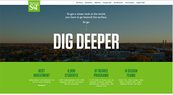 A redesigned website is one of the elements of the Miners Dig Deeper brand identity.