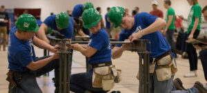 The Missouri S&T Steel Bridge Design Team competes in the Gale Bullman Building on Thursday April 21, 2016.                           Sam O'Keefe/Missouri S&T