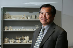 Professor Ming Leu is leading a team to perform material analysis on selective laser melting process in a metal powder bed.