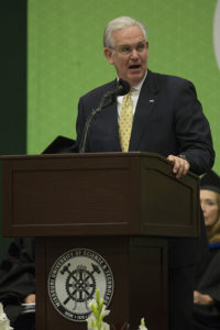 Missouri Gov. Jay Nixon spoke during the afternoon ceremony at Missouri S&T.
