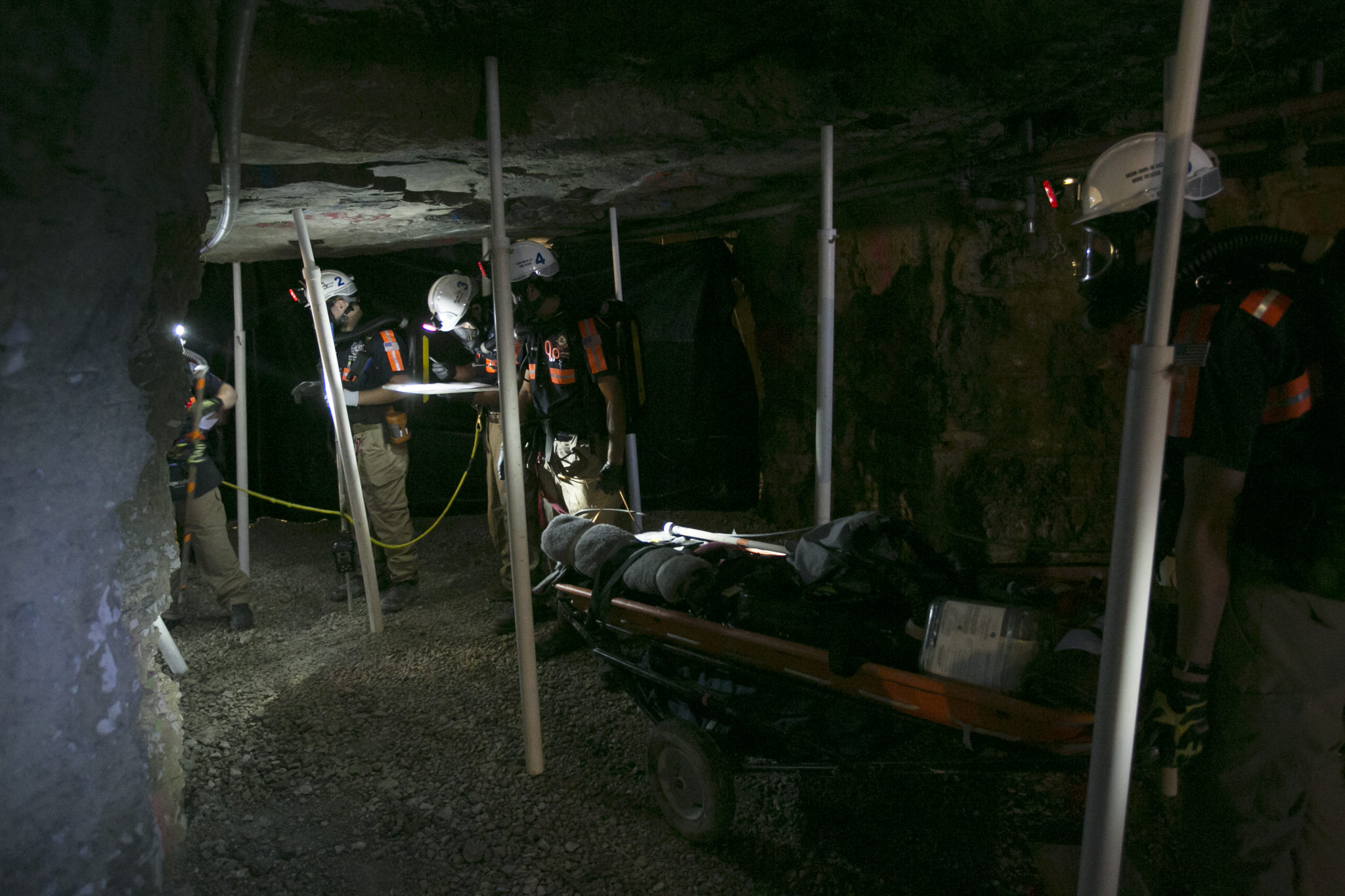 Missouri S&T's two mine rescue teams will compete against industry teams at the 34th Annual Mine Rescue Competition Oct. 3-6 at S&T's Experimental Mine. Sam O'Keefe/Missouri S&T