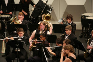 The wind symphony, symphonic band and the winter drumline perform at Leach Theatre. Sam O'Keefe/Missouri S&T