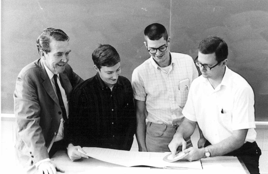Bernard Sarchet works with students as part of the worlds first engineering management program