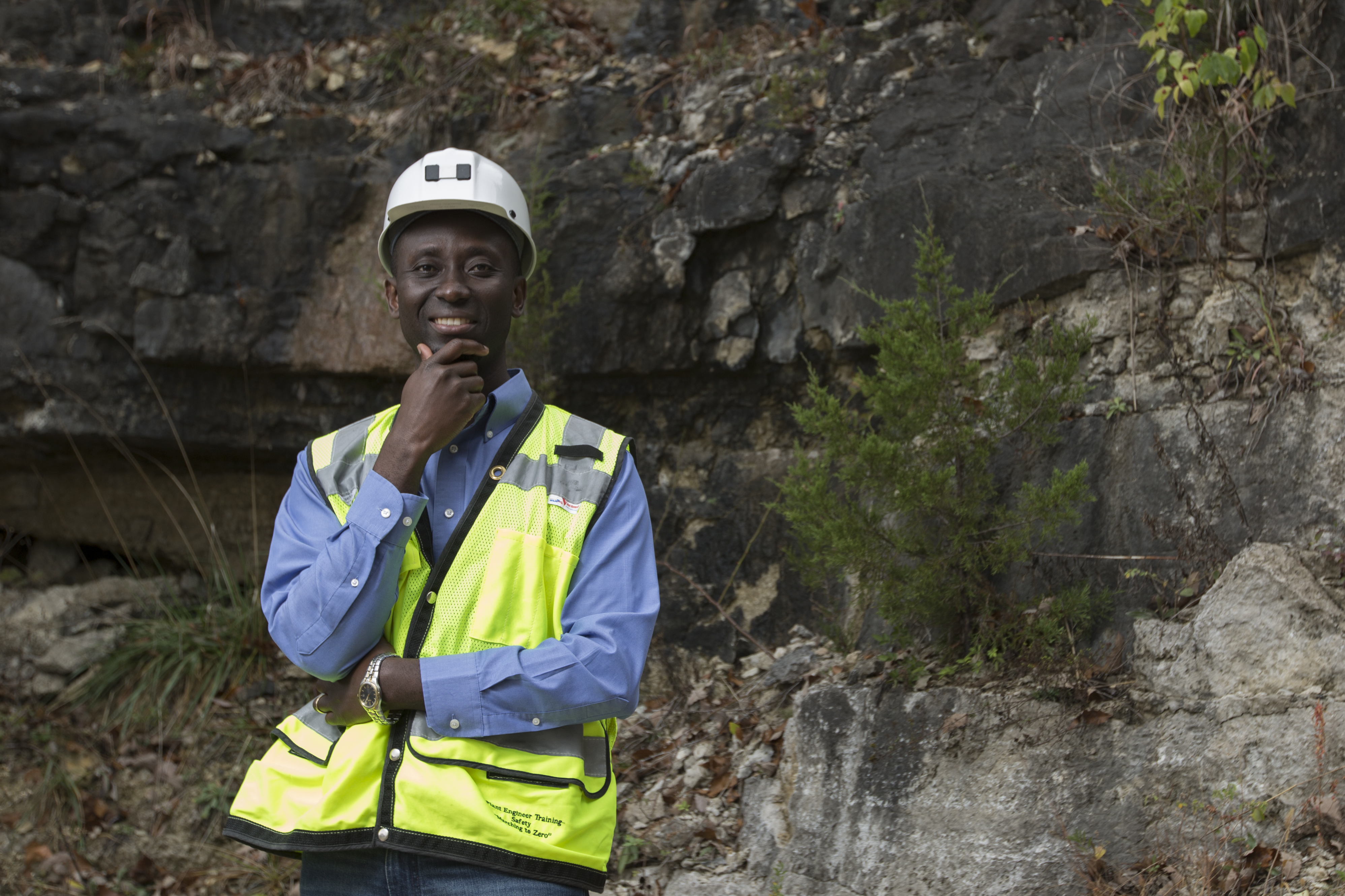 Missouri S&T professor Kwame Awuah-Offei spent a year and a half in Washington, helping the Securities and Exchange Commission write proposed new mining regulations. Photo By Sam O'Keefe/Missouri S&T