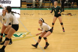 Allegri in action for the Lady Miners. Photo by Missouri S&T sports information.
