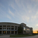 A fall sunset behind the Havener Center. As the sun sets on 2016, here's a look back at some of the year's most notable stories at Missouri S&T.                Photo By Sam O'Keefe/Missouri S&T