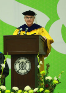 Curator Thomas R. Voss spoke during December 2016 commencement ceremonies at Missouri S&T.