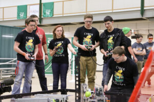 Action from the 2016 VEX competition. Photo by Sam O'Keefe, Missouri S&T.