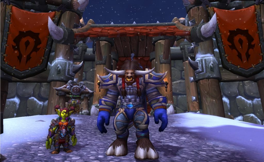 A screenshot of Short's character (left) posing with Dr. Nathan Weidner's character.