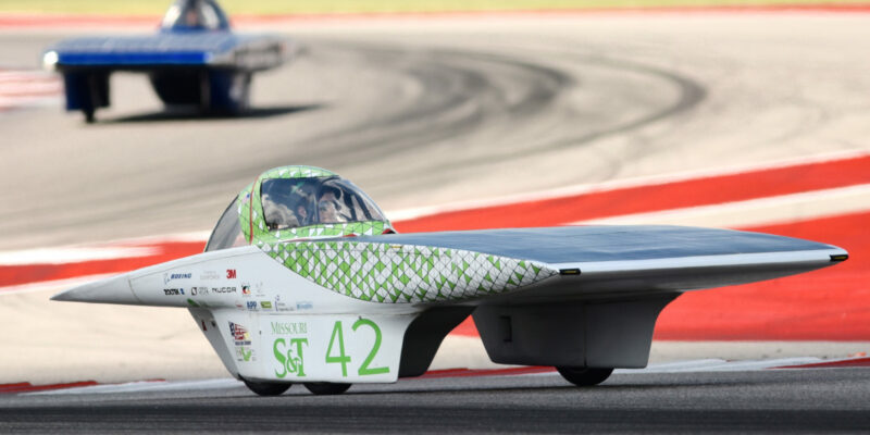 Missouri S&T earns eighth at solar car race