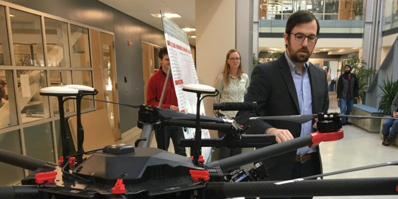 Missouri S&T doctoral student enlists drones to detect unexploded landmines through changes in plant health
