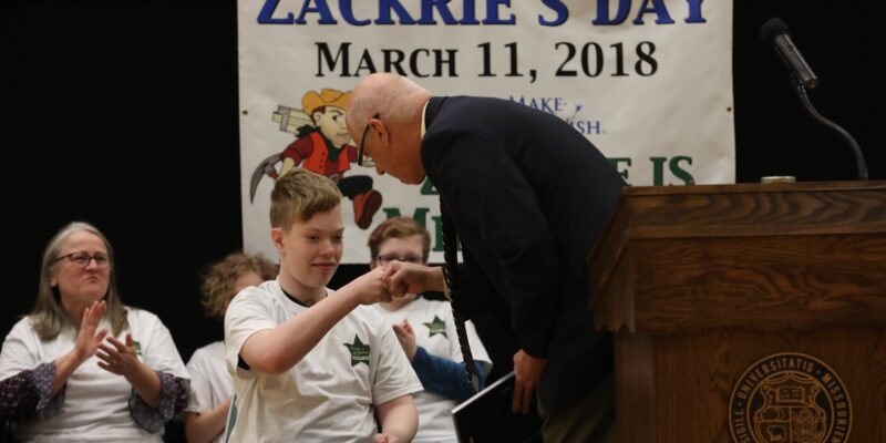 Missouri S&T athletics helps Zackrie's Make-A-Wish dream come true