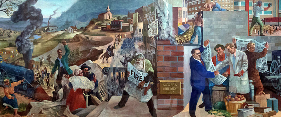 Mid-section of Rolla Mural. Photo by Sam O'Keefe, Missouri S&T.