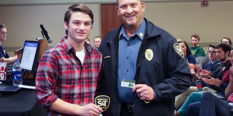 Missouri S&T police recognize student for helping stranded motorists