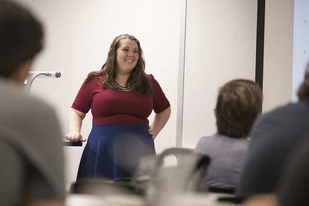 Dr. Sarah Hercula teaches linguistics courses in English and technical communication at Missouri S&T.