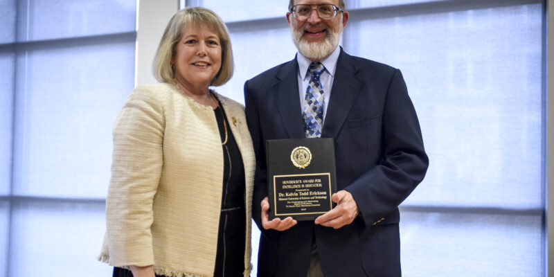 Erickson receives Governor's Award for Excellence in Teaching